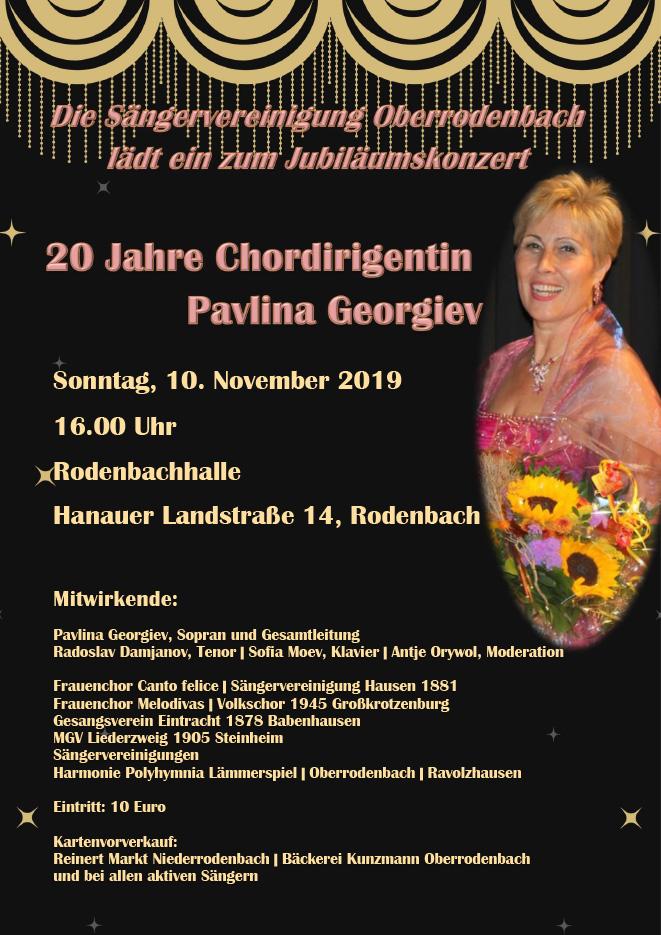 Plakat 20 Jahre Pavlina